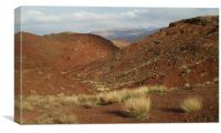 Nice Red Mountains in the Desert, Canvas Print