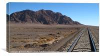 Rail Road in the Desert, Canvas Print