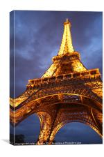 Eiffel Tower: Evening Perspective, Canvas Print