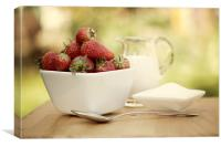 Strawberries & Cream, Canvas Print