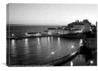 Tenby Harbour.Black+White.