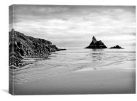 Church Rock. Broadhaven Beach.Wales, Canvas Print