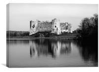 Carew Castle.Pembrokeshire.Wales., Canvas Print