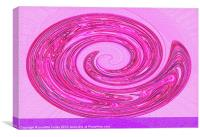 Pink Abstract Swirl Sparkle., Canvas Print