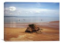 Goskar Rock.Tenby.Pembrokeshire., Canvas Print