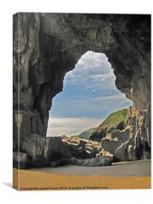 Lydstep Cavern's. Tenby., Canvas Print