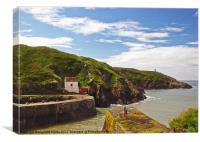 Porthgain Harbour.Pembrokeshire., Canvas Print
