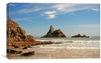 Church Rock.Broad Haven South Beach., Canvas Print