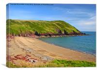 SwanLake Beach.Pembrokeshire., Canvas Print
