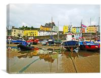 Tenby Harbour.DayLight., Canvas Print