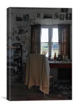 Dylan Thomas. Inside The Writing Shed. Laugharne., Canvas Print
