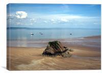 Goskar Rock-Tenby-Pembrokeshire-Wales., Canvas Print