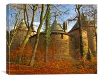 Castell Coch-Cardiff-Wales., Canvas Print