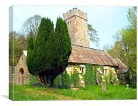 Gumfreston Celtic Church-Tenby-Pembrokeshire., Canvas Print