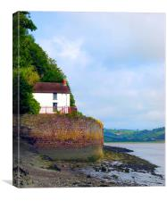 The Boathouse, Dylan Thomas, Laugharne., Canvas Print
