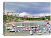 Tenby Harbour,North Beach., Canvas Print