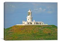 Strumble Head Lighthouse By Day, Canvas Print