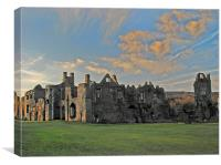 Neath Abbey, South Wales., Canvas Print