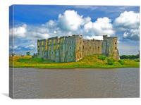 Carew Castle, North View., Canvas Print