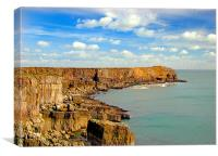 Stackpole Head.Wales., Canvas Print