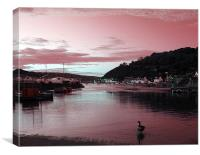 Lower Town.Fishguard., Canvas Print