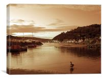 Lower Town Fishguard., Canvas Print