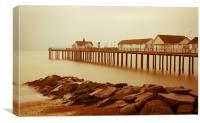 The Pier at Dawn, Canvas Print