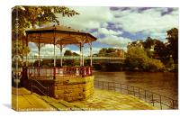 Riverside, Chester., Canvas Print