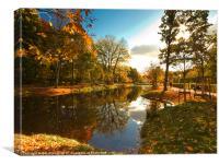 Autumn in The Tiergarten, Berlin., Canvas Print