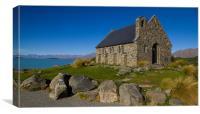 Church of the Good Shepherd, Lake Tekapo., Canvas Print