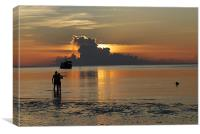 sunset on Koh Tao, Canvas Print