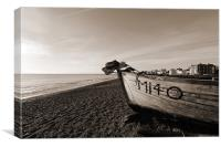 Aldeburgh coast, Canvas Print