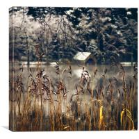 Loch Ard, winter starts.., Canvas Print