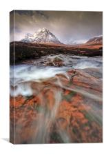Towards the Buachaille..., Canvas Print