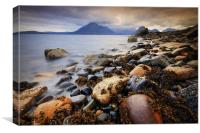 The Black Cullins from Elgol, Canvas Print