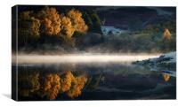 Knapps loch, Autumn Colour, Canvas Print