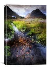 Lagangarbh stream, Glencoe, Canvas Print