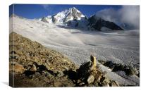 Glacier Du Tour, Canvas Print