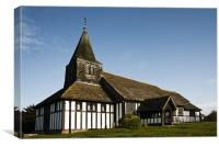 St. James & St. Paul's Church, Marton, Canvas Print