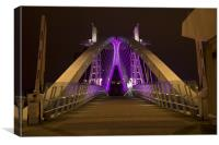 Lowry Bridge Salford Quays, Canvas Print