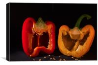 Laughing Peppers, Canvas Print