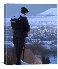 Clitheroe Soldier, Canvas Print