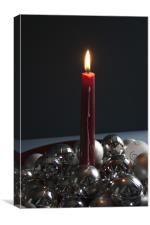 Christmas Candle, Canvas Print