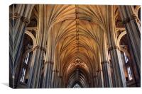 Inside Bristol Cathedral, Canvas Print