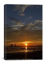 Sunset Beams, Canvas Print