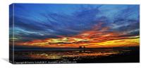 Sunset with the WOW factor, Canvas Print