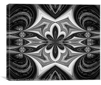 Black & White Abstract, Canvas Print