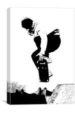 Skateboarder, Canvas Print
