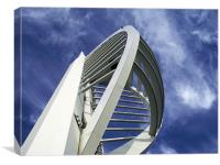 Spinnaker Tower - Close side view, Canvas Print