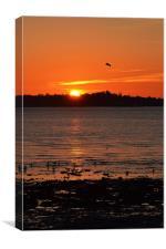 Sundown on Hythe, Canvas Print